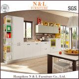 Gabinete de cozinha da melamina da cor do café de Hangzhou