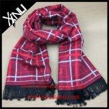 Bufanda tejida telar jacquar caliente largo de encargo del invierno de la alta manera