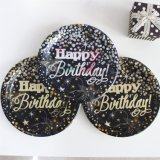 """Plaque de papier en or plaqué 7 """"9"""" pour fête d'anniversaire"""