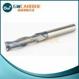 Cortador sólido del molino de extremo del carburo de 2 flautas