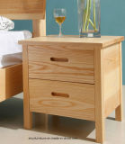 실제적인 목제 침대 탁자, 단단한 호두 널, 목제 테이블에 있는 Nightstand