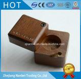 Коробка серьги коробки ювелирных изделий кольца изготовленный на заказ квадрата логоса деревянная