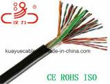 Заполненный студнем кабель аудиоего разъема кабеля связи кабеля данным по кабеля кабеля/компьютера сети UTP Cat5e 25pair