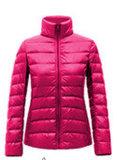 여자 빛과 아래로 온정 보유 속성 재킷