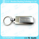 Movimentação superior do flash do USB de Keychain do giro do metal da classe (ZYF1757)