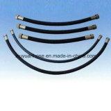 Tubo flessibile idraulico del petrolio del tubo flessibile di gomma flessibile nero dell'olio