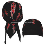 China OEM Produce Customized Logo impreso blanco Spider Webs Promocional Headscarf cabeza Wrap