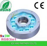 多色刷りのステンレス鋼水中LEDの噴水ライト(JP94196)