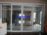 120series Heavy Sliding Doors Office Partition Doors Aluminum Sliding Doors avec Construire-dans Blinds