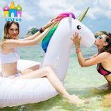 최신 여름 물 부유물 팽창식 백조 Unicorn 수영장 부유물