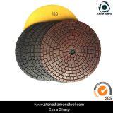 Rondelle de polonais flexible humide de granit