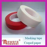 Cinta adhesiva del papel de Crepe usada para la pintura