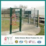 Покрынная PVC изогнутая загородка загородки ячеистой сети сваренная Panel/3D