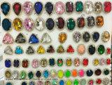 ラインストーンの装飾の工場クリスタルグラスの石(SW長方形10*14)をセットする金フレームの爪