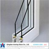 Vidrio de hoja aislada recubierto bajo-E para el muro cortina del edificio