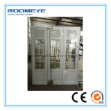 Roomeye UPVC Casement Door with Shutter / Jalousie / Louver Double vitre avec Girll