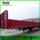 40 de voet Hoge Semi Aanhangwagen van de Omheining van de tri-As van de Aanhangwagens van de Zijgevel