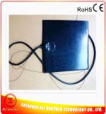 furos de 600*600*1.5mm 12V 550W no calefator do silicone do preto da almofada