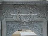 Leoni intagliati camino di marmo di vendita caldi di alta qualità (SY-MF151)