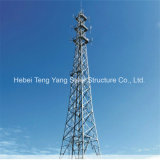 Torre de acero del tubo de la telecomunicación autosuficiente de la antena