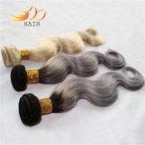 卸売2の調子の薄い色の毛100%のモンゴル人のRemyの毛