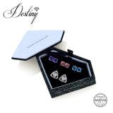 De Kristallen van de Juwelen van het lot van de Swarovski tri-Gestileerde Reeksen De0290 van Oorringen