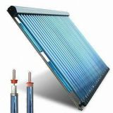 Colector solar tubular con la pipa de calor