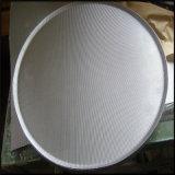 Disque de filtre d'acier inoxydable de solides solubles 316 pour le pétrole ou le traitement des eaux