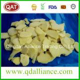 Le gingembre surgelé a enlevé le gingembre découpé coupé en tranches par gingembre avec le CERT de Brc