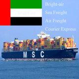 Overzees van de Logistiek van de Calculator van de port Vrachtvervoer die van China aan Sharjah, Verenigde Arabische Emiraten verschepen