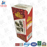 Papel de embalagem laminado asséptico para produtos lácteos