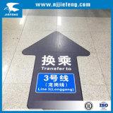 Stickers van de Milieubescherming van het Overdrukplaatje van de vloer de
