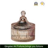 Candela di vetro riempita del vaso della caramella per la promozione domestica di cerimonia nuziale della decorazione