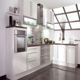 Nuovo armadio da cucina popolare Handless di lucentezza dell'armadio da cucina alto