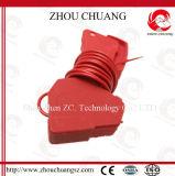Замыкание кабеля безопасности красного цвета 2.4m OEM облегченное доработанное Nylon