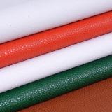Het goedkope Leer van het Patroon Pu Faux van de Lychee van de Prijs voor Dame Bags, Handtassen, Schoenen