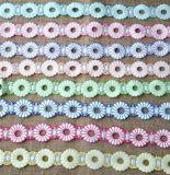 Cordón múltiple del bordado del hilado de la leche del color para los accesorios de la ropa