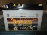 de 6n12A-6n12A-2D Conventionele Overstroomde Batterij van de Motorfiets van het Lood 6V12ah Zure Droge Geladen
