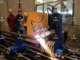 Machine de découpage professionnelle de profil de pipe de commande numérique par ordinateur pour l'armature de pipe en acier
