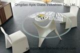 Bronze tönte Kreis/rundes abgeschrägtes abgeschrägter Rand-ausgeglichenes Glas für Möbel-Tisch ab