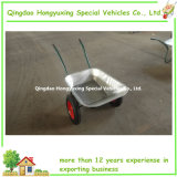 65L economico Double Wheel Wheelbarrow con Best Quality (WB6407)