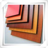 1220 * 2440mm del grano de madera flexible HPL / HPL suave