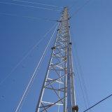 Galvaniseerden de Ondersteunende Telecommunicatie van de draad Driehoekige die Toren Guyed in China wordt gemaakt