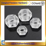 Type clair noix en nylon Hex de polycarbonate