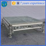 판매를 위한 이용된 알루미늄 Portable DJ 유리제 단계