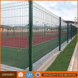 Frontière de sécurité soudée par qualité de treillis métallique avec des courbures de Trangle et poste carré d'Anping