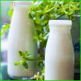 de Lege Fles van het Glas van de Melk 200ml 250ml 500ml met Plastic Deksels