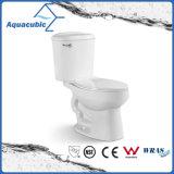 Toalete cerâmico do armário de duas partes de Siphonic do banheiro (AT1010)