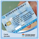 PVC profissional Cr82 do plástico do fabricante do cartão de microplaqueta da identificação CI do espaço em branco
