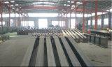 Gruppo di lavoro chiaro della struttura d'acciaio con la gru all'interno